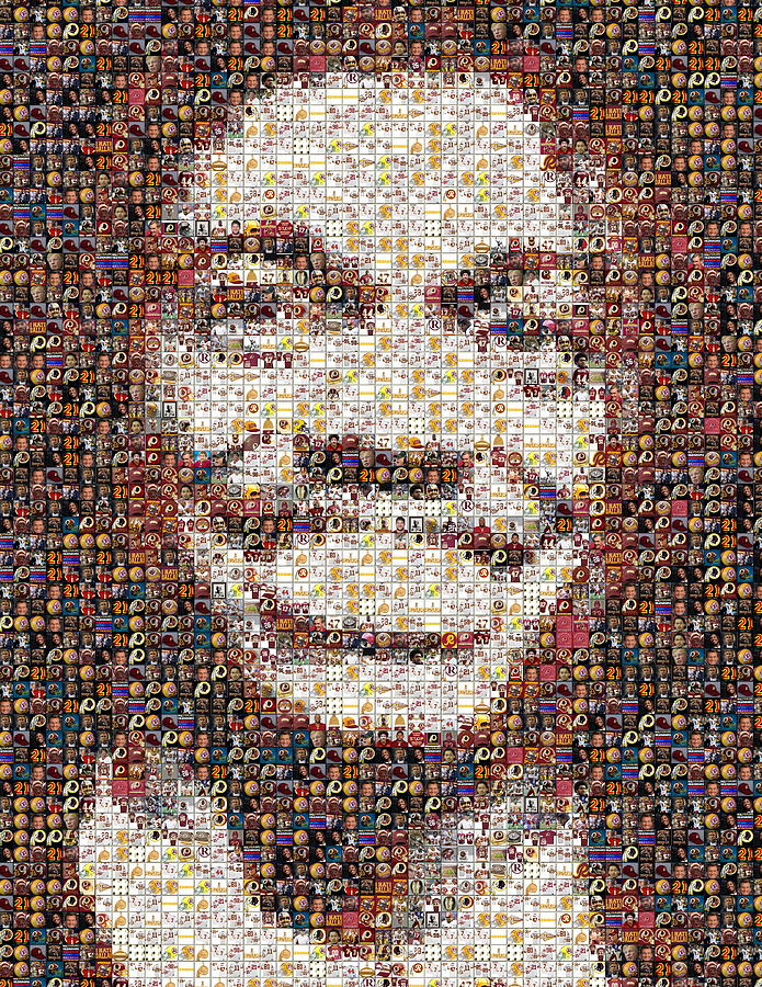Rg3 Redskins History Mosaic Painting