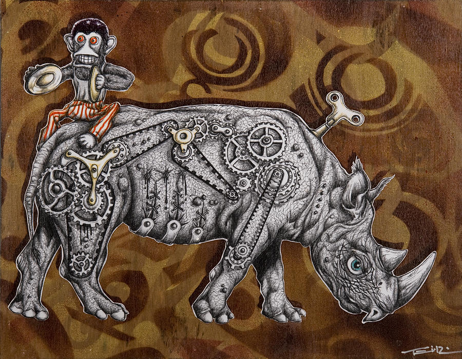 Rhino Mechanics Painting  - Rhino Mechanics Fine Art Print