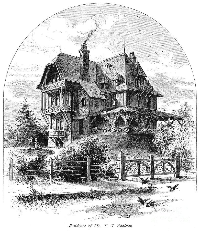 Rhode Island: Villa, 1876 Photograph