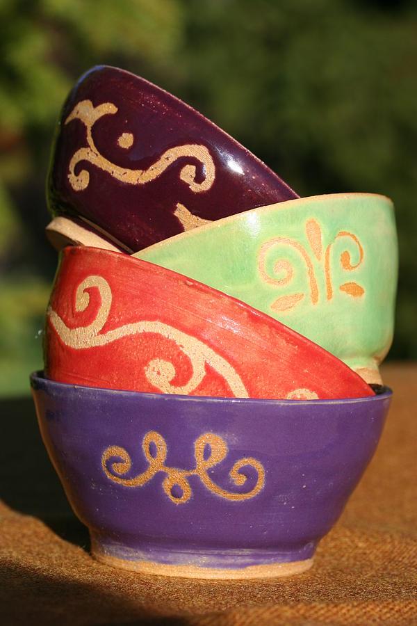 Rice Bowl Set Ceramic Art