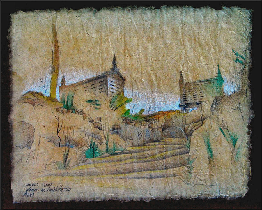 Rice Storage In Muros 1982 Drawing  - Rice Storage In Muros 1982 Fine Art Print