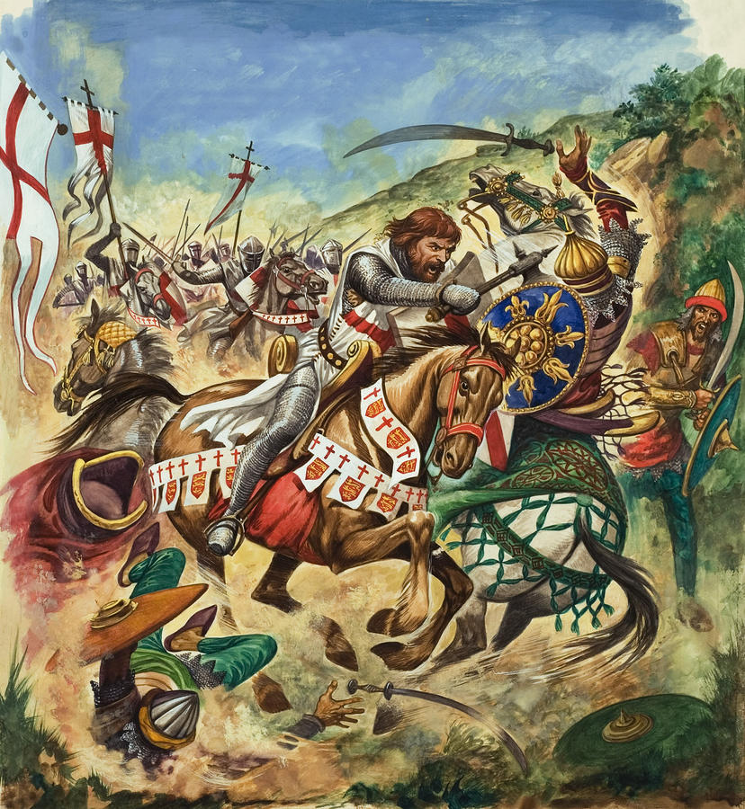 Richard The Lionheart During The Crusades Painting  - Richard The Lionheart During The Crusades Fine Art Print