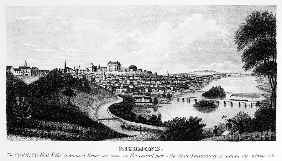 Richmond, Virginia, 1856 Photograph  - Richmond, Virginia, 1856 Fine Art Print