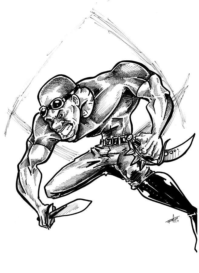 Riddick Drawing - Riddick by Big Mike Roate