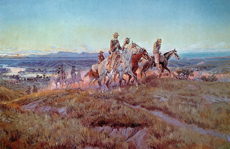 Riders Of The Open Range Painting
