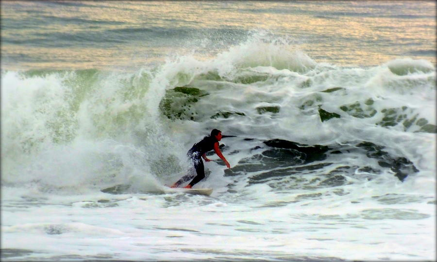 Surfing Photograph - Riding In Beauty by Karen Wiles