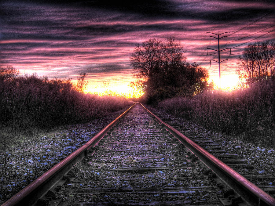 Riding The Rails Photograph  - Riding The Rails Fine Art Print
