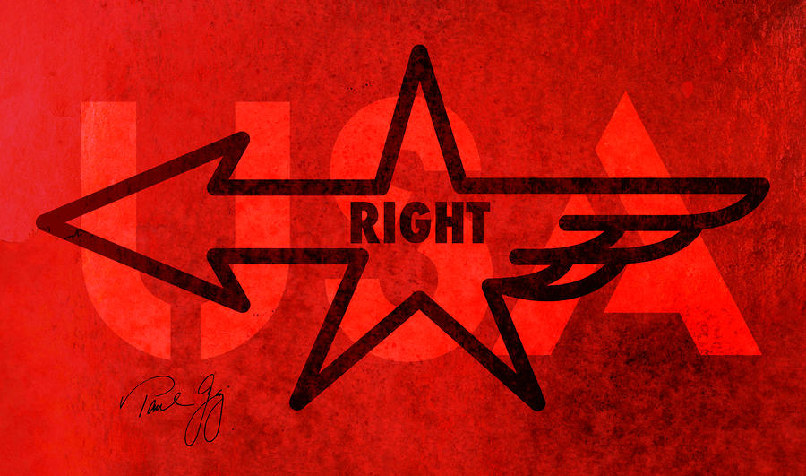 Right Wing Mixed Media  - Right Wing Fine Art Print