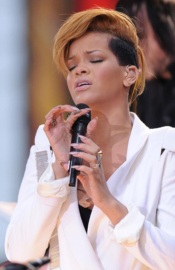 Rihanna On Stage For Good Morning Photograph  - Rihanna On Stage For Good Morning Fine Art Print