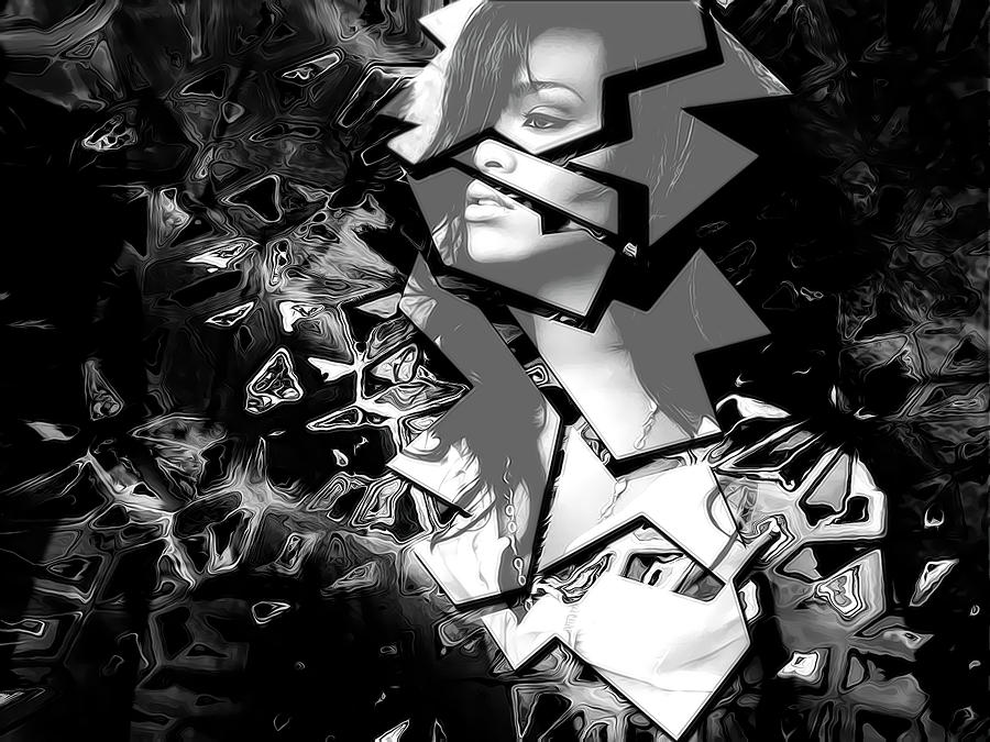Rihanna Shattered Digital Art
