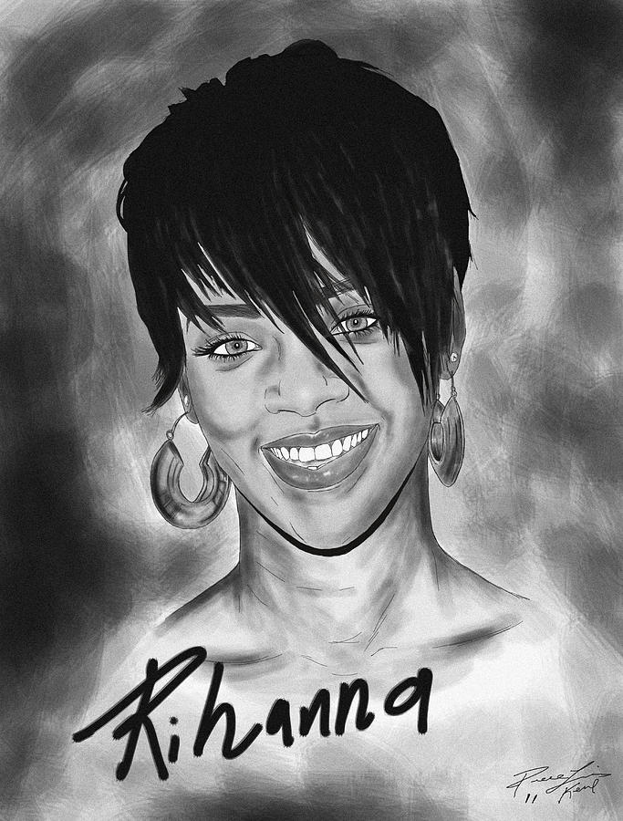 Rihanna Smiles Drawing