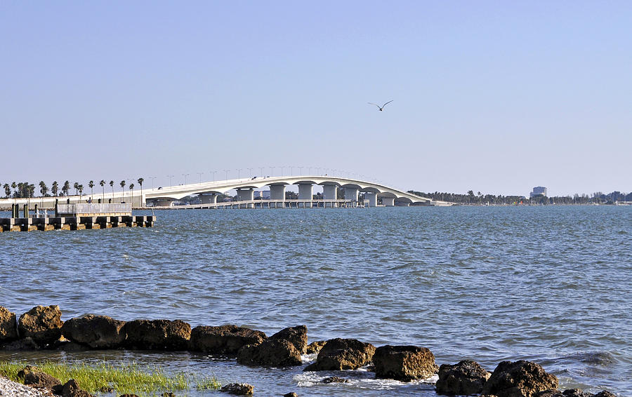 Ringling Bridge Late Afternoon Sarasota Florida Photograph  - Ringling Bridge Late Afternoon Sarasota Florida Fine Art Print