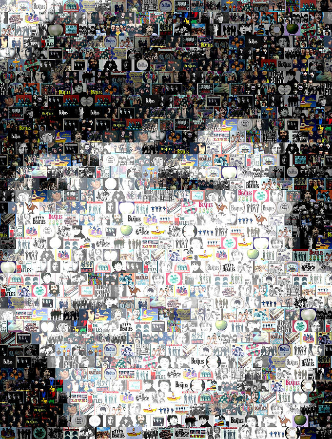 Ringo Starr Beatles Mosaic Digital Art  - Ringo Starr Beatles Mosaic Fine Art Print