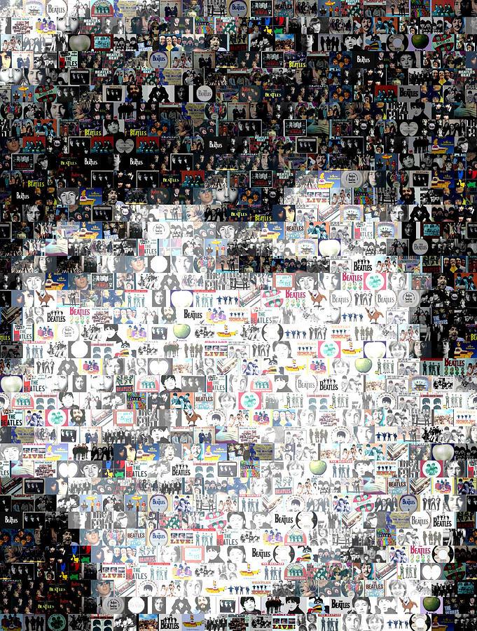 Ringo Starr Beatles Mosaic Digital Art