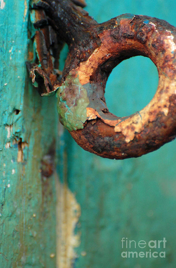 Rings Of Rust And Blue Photograph  - Rings Of Rust And Blue Fine Art Print