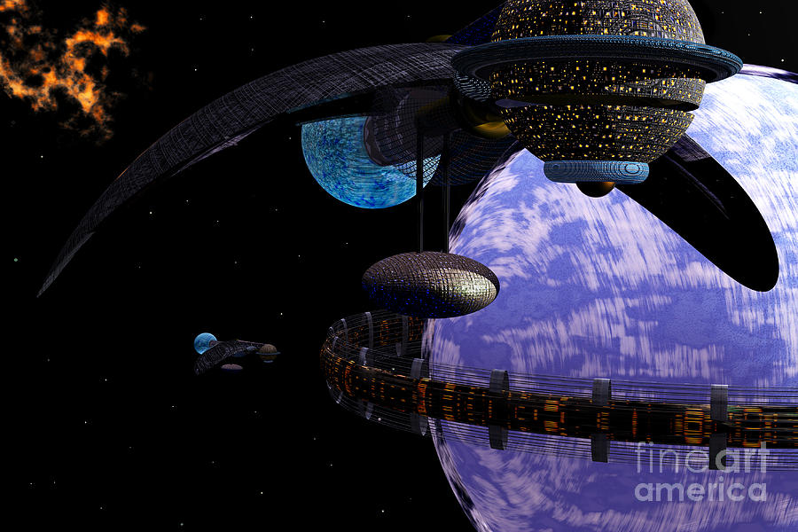 Ringworld Digital Art  - Ringworld Fine Art Print