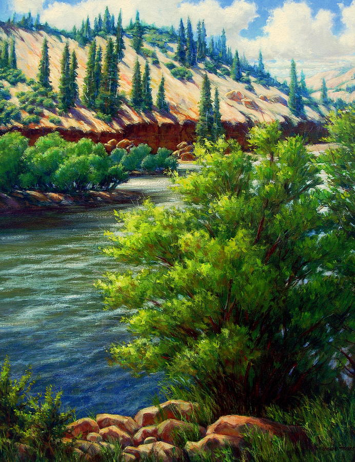 Rio Grande Colorado Painting  - Rio Grande Colorado Fine Art Print