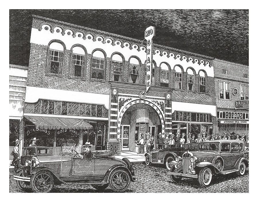 Rio Grande Theater Drawing