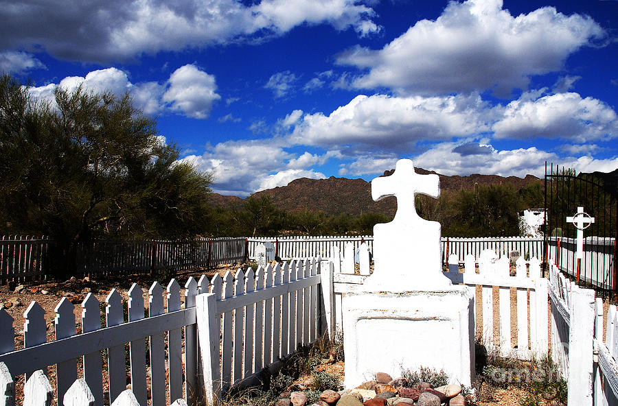 R.i.p. In Old Tuscon Az Photograph  - R.i.p. In Old Tuscon Az Fine Art Print