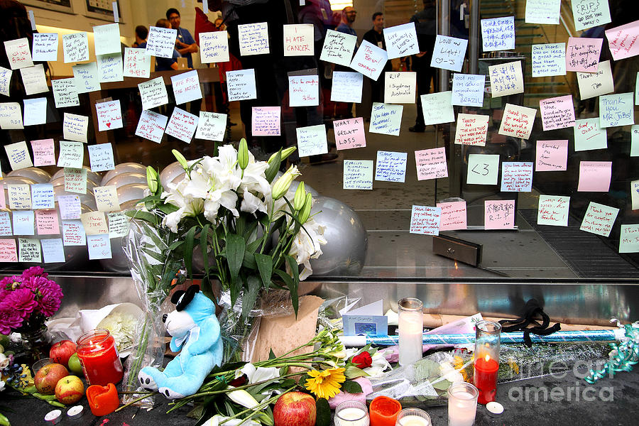 Rip Steve Jobs . October 5 2011 . San Francisco Apple Store Memorial 7dimg8574 Photograph