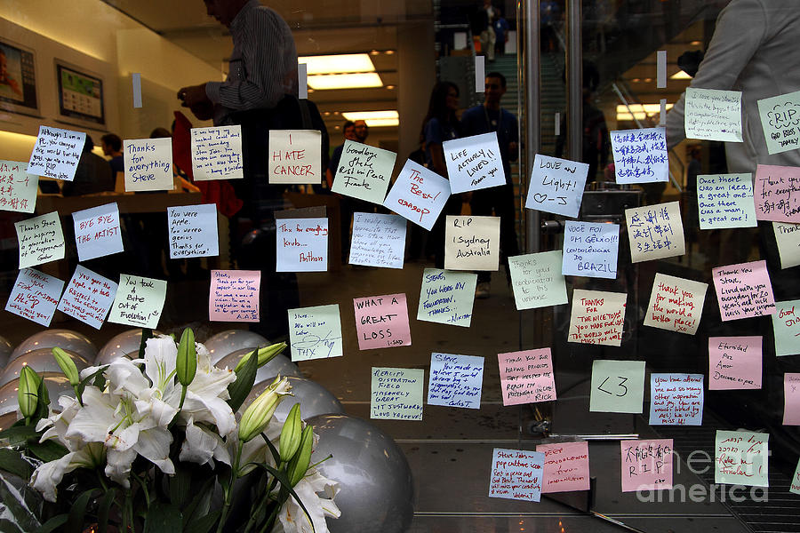 Rip Steve Jobs . October 5 2011 . San Francisco Apple Store Memorial 7dimg8575 Photograph
