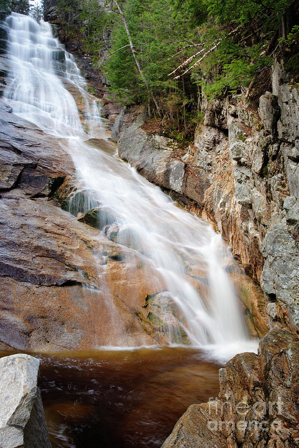 Ripley Falls - Crawford Notch State Park New Hampshire Usa Photograph