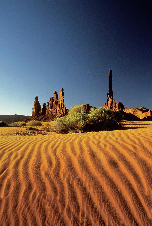 Vertical Photograph - Ripples In The Sand, Monument Valley Tribal Park, Arizona, Usa by Medioimages/Photodisc