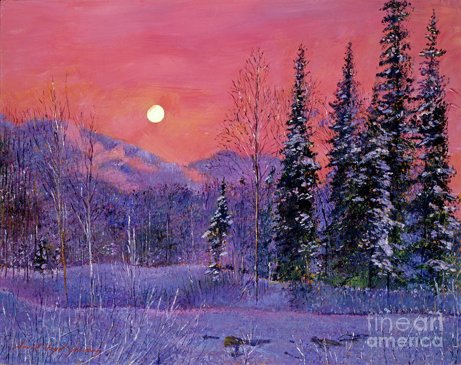 Rising Snow Moon Painting