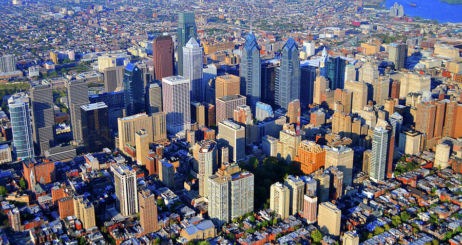 Rittenhouse Square Park And Philadelphia Skyline Photograph