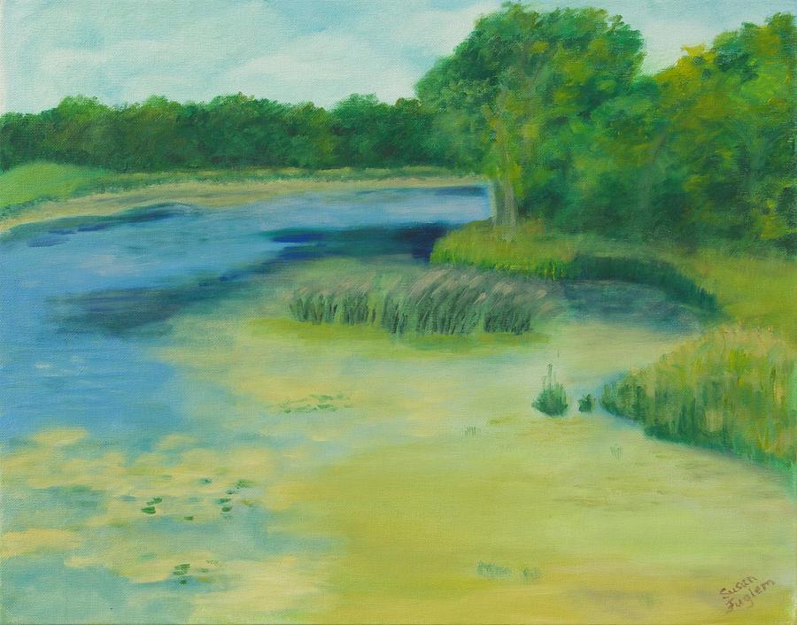 Landscape Painting - Ritter Farm Park by Susan Fuglem