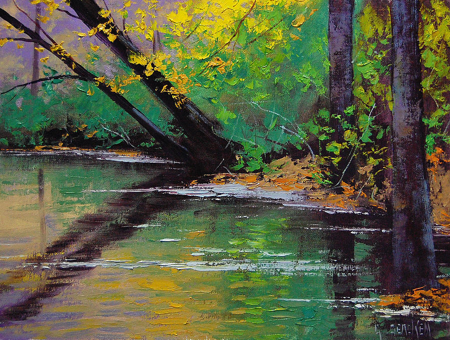 River Bank Painting by Graham Gercken