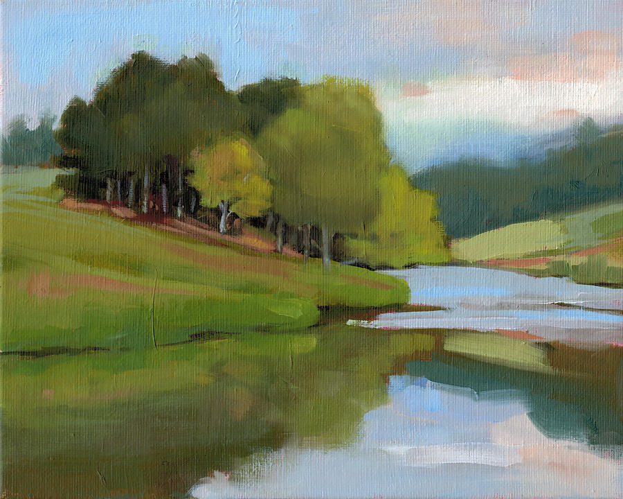River Bend Study Painting  - River Bend Study Fine Art Print