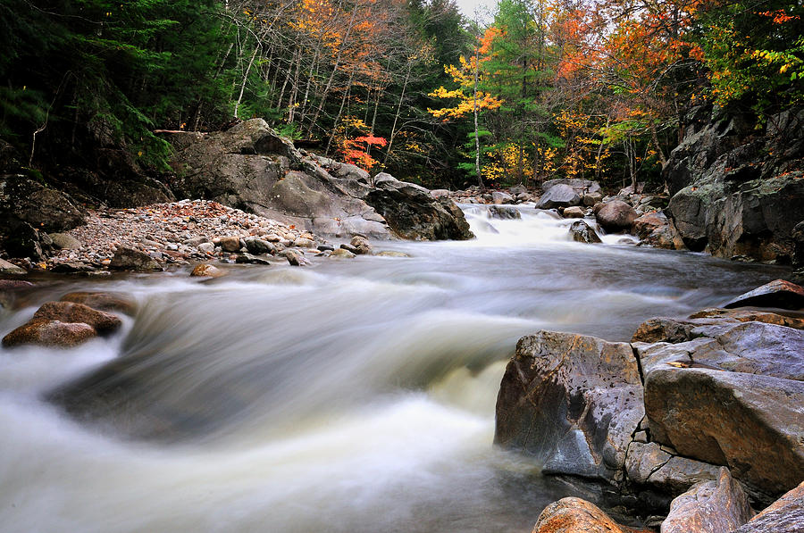 River Rapids - North Sandwich  New Hampshire Photograph
