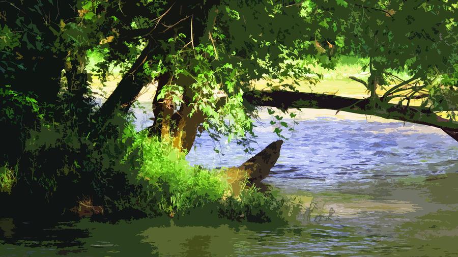 River Ripple Voices Digital Art