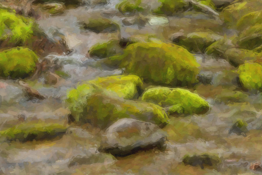 River Stones Digital Art  - River Stones Fine Art Print