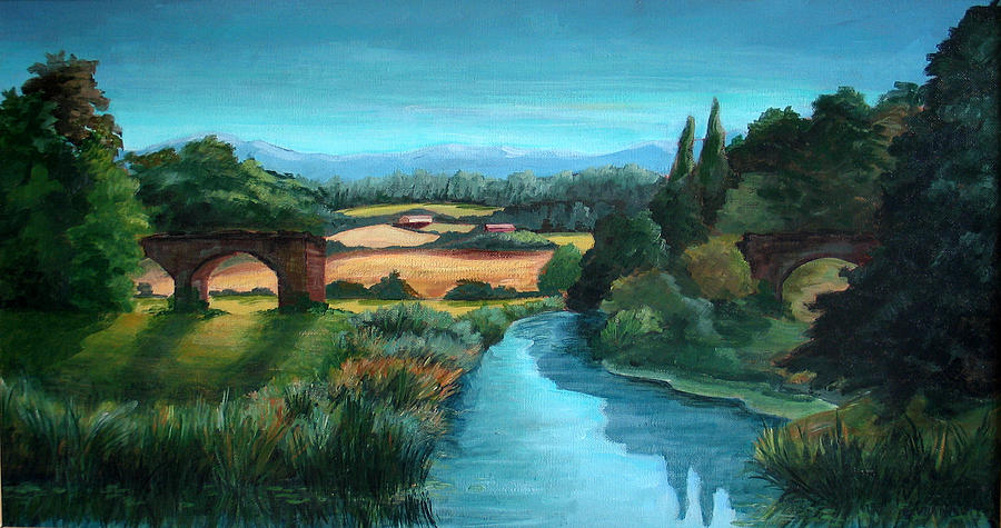 River Stour At Sturminster Newton Dorset England Painting
