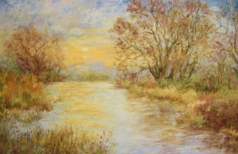 River Sunrise  Painting  - River Sunrise  Fine Art Print