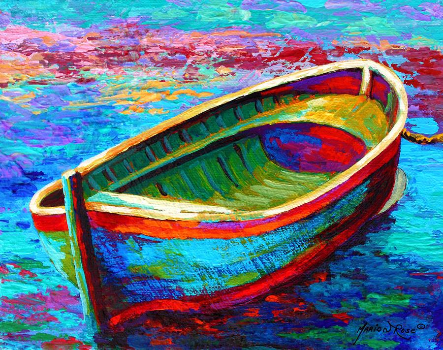 Riviera Boat I Painting