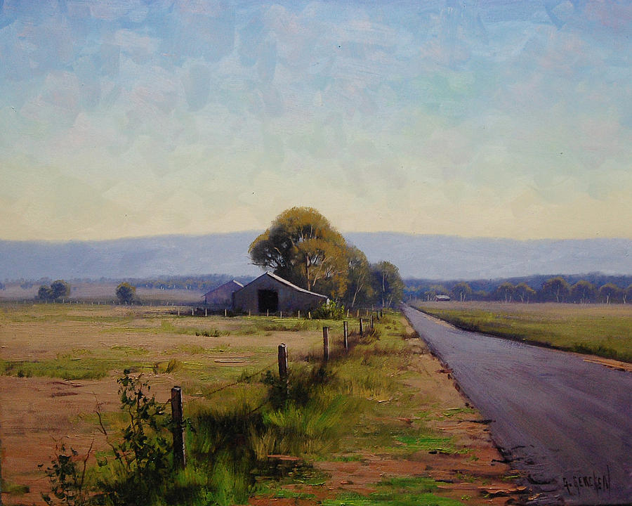 Farm Painting - Road To Richmond by Graham Gercken