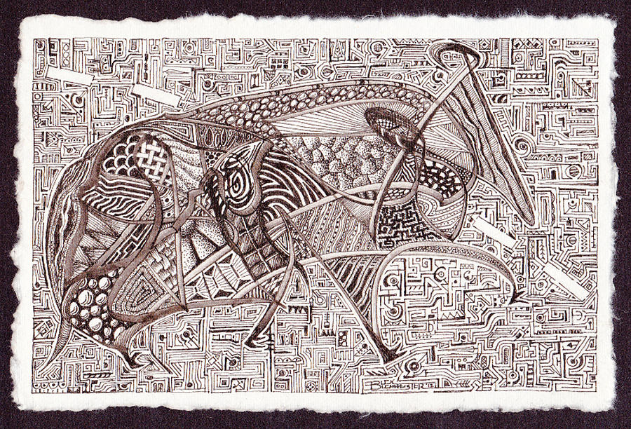 Roadkill Petroglyph Drawing