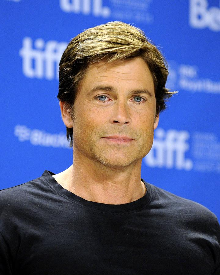 Rob Lowe At The Press Conference Photograph