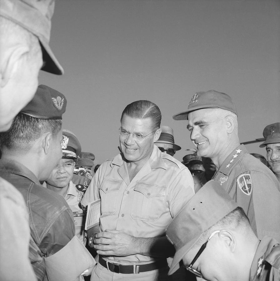Robert Mcnamara And General Photograph