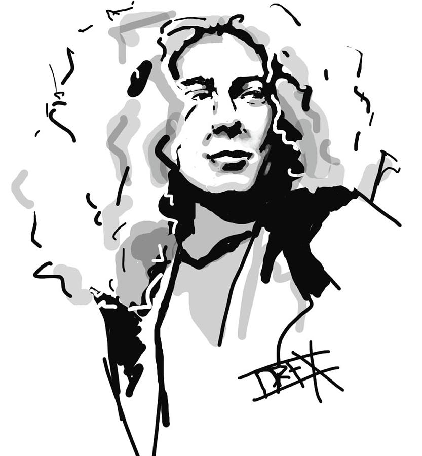 Robert Plant Digital Art  - Robert Plant Fine Art Print