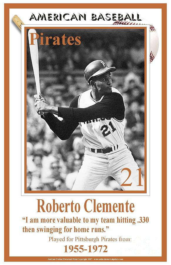 Roberto Clemente Digital Art