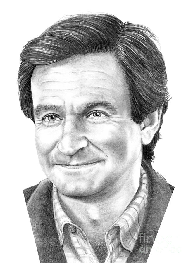 Robin Williams Drawing  - Robin Williams Fine Art Print