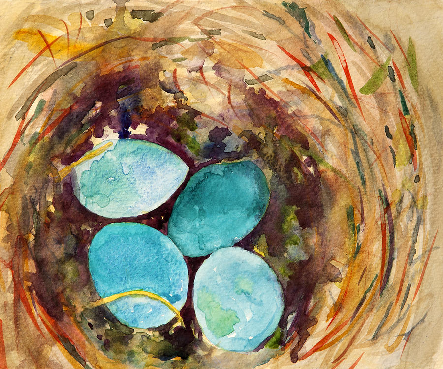 Robins Eggs Painting  - Robins Eggs Fine Art Print