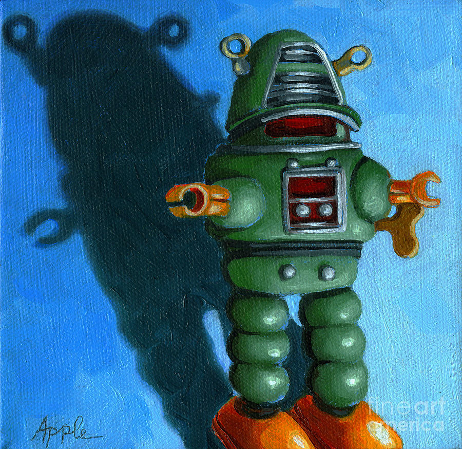 Robot Dream - Realism Still Life Painting Painting  - Robot Dream - Realism Still Life Painting Fine Art Print