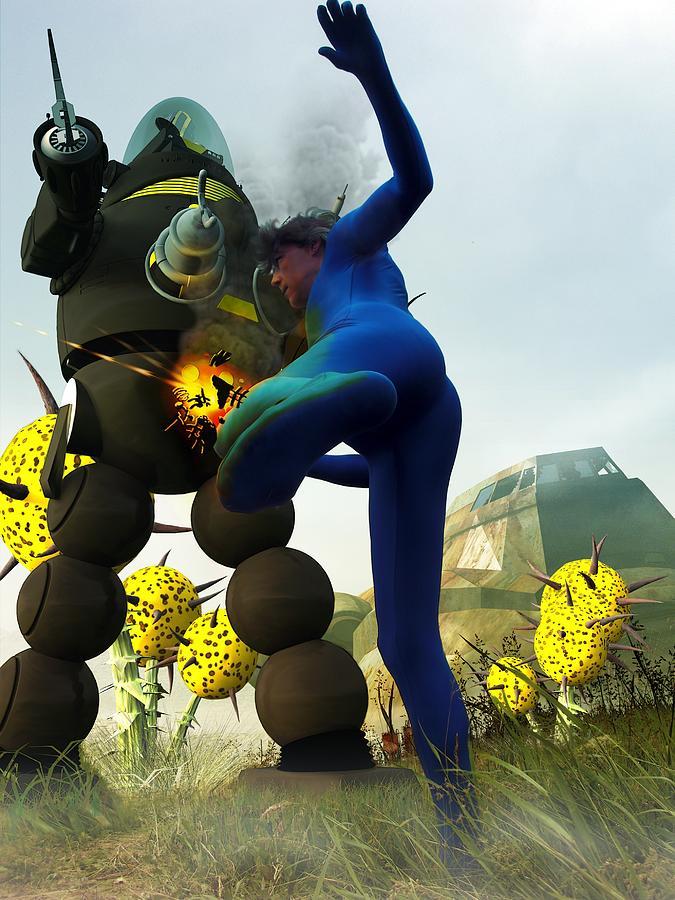 Robot Fighter V2 Digital Art