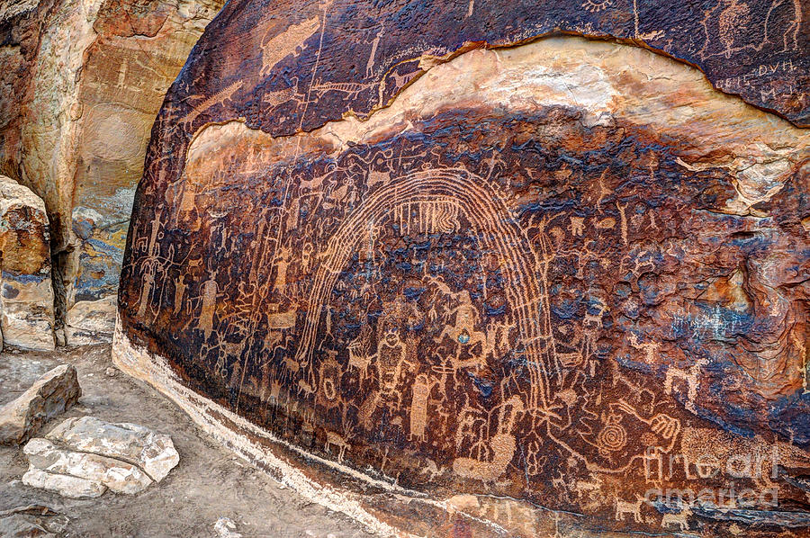 Rochester Petroglyph Rock Art Panel Utah Photograph By
