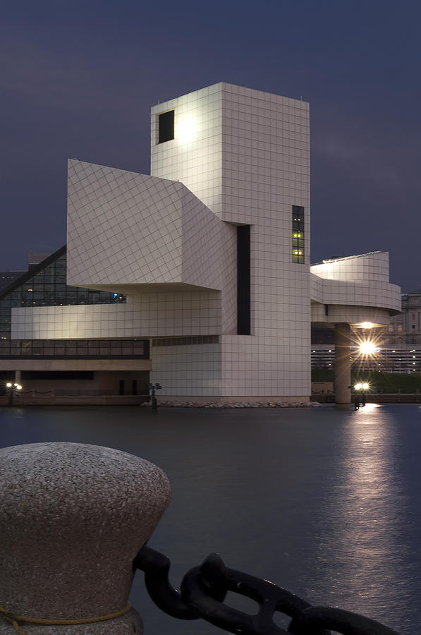Rock And Roll Hall Of Fame At Dusk Photograph  - Rock And Roll Hall Of Fame At Dusk Fine Art Print